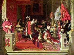 King Philip V (1683-1746) of Spain Making Marshal James Fitzjames (1670-1734) by Jean-Auguste-Dominique Ingres