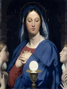 La Vierge �'Hostie by Jean-Auguste-Dominique Ingres