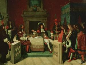 Louis XIV Dining with Moliere, 1837 by Jean-Auguste-Dominique Ingres