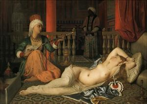 Odalisque with a Slave by Jean-Auguste-Dominique Ingres