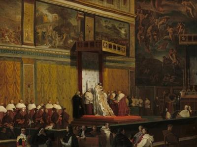 Pope Pius VII in the Sistine Chapel, 1814 by Jean Auguste Dominique Ingres