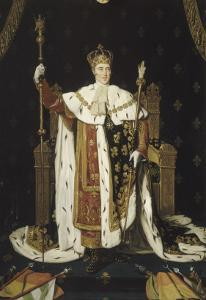 Portrait de Charles X en costume de sacre by Jean-Auguste-Dominique Ingres