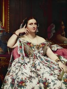 Portrait of Madame Moitessier by Jean-Auguste-Dominique Ingres