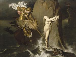Roger délivrant Angélique by Jean-Auguste-Dominique Ingres