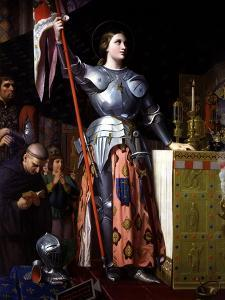 Saint Joan of Arc at Coronation of King Charles VII in Reims Cathedral by Jean-Auguste-Dominique Ingres