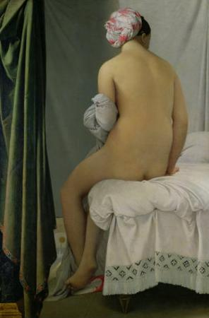 """The Bather, Called """"Baigneuse Valpincon,"""" 1808 by Jean-Auguste-Dominique Ingres"""