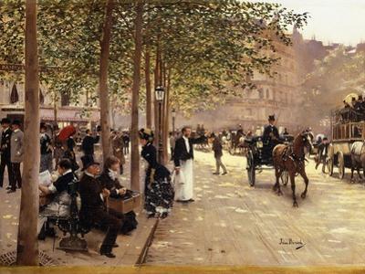 A Paris Street; Une Avenue Parisienne, C.1880 by Jean B?raud