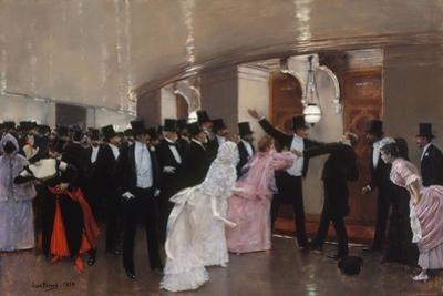Altercation dans les couloirs de l'Opéra, 1889 by Jean B?raud