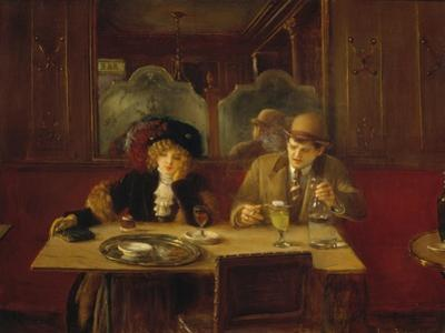 At the Cafe or the Absinthe by Jean B?raud