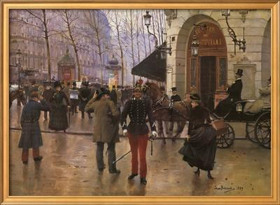 Boulevard des Capucines and The Vaudeville Theatre by Jean B?raud