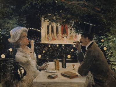 """Dinner at """"The Ambassadors"""" by Jean B?raud"""