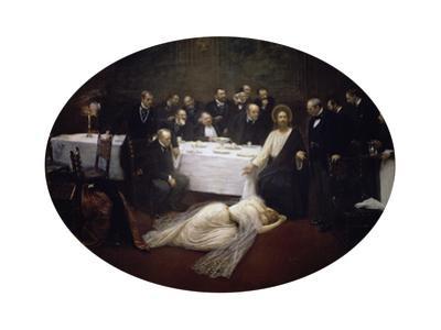Jesus und Maria Magdalena unter den Pharisäern. 1891 by Jean B?raud