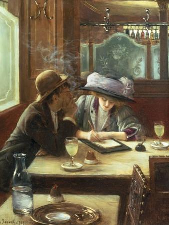 La Lettre, 1908 by Jean B?raud