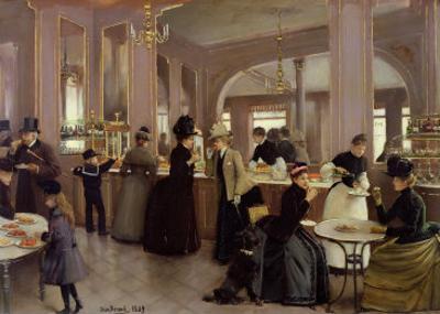 La Patisserie Gloppe, Champs Elysees, Paris, 1889 by Jean B?raud