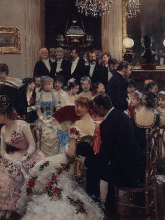 La Soirée ou autour du piano by Jean B?raud