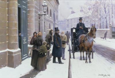 La Sortie du Bourgeois, 1889 by Jean B?raud