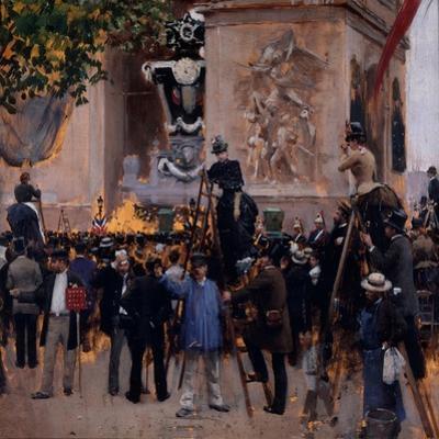 Les funérailles de Victor Hugo, place de l'Etoile (1er juin 1885) by Jean B?raud