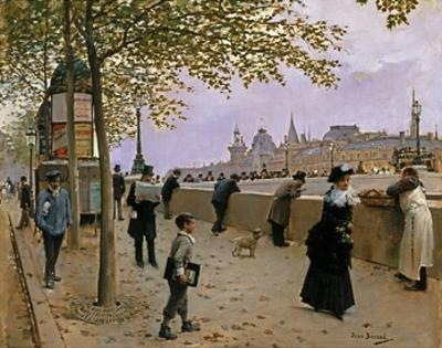 On the Banks of the River Seine by Jean B?raud
