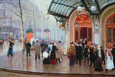 Outside the Vaudeville Theatre, Paris by Jean B?raud