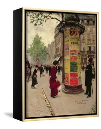 Paris Kiosk, Early 1880s by Jean B?raud