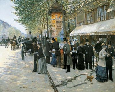 Paris on the Boulevard, 1890 by Jean B?raud