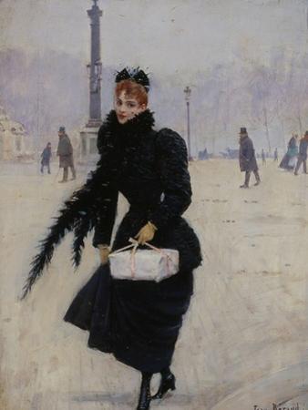 Parisienne, place de la Concorde by Jean B?raud
