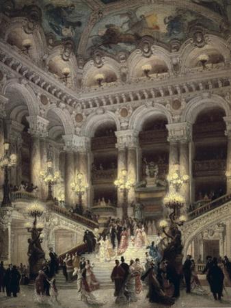The Stairway of the Opera, Paris by Jean B?raud