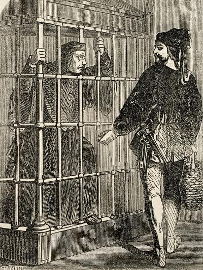 Jean Balue (1421-1491) Prisoner in the Castle of Loches--Giclee Print