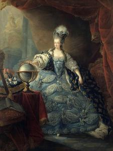 Marie Antoinette, Queen of France with Globe, 1775 by Jean Baptiste Andre Gautier d'Agoty