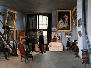 The Artist's Studio, Rue De La Condamine by Jean-Baptiste-Armand Guillaumin