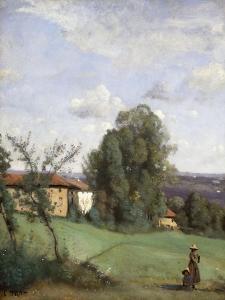 A Farm in Dardagny; Une Ferme De Dardagny, C.1855-57 by Jean-Baptiste-Camille Corot