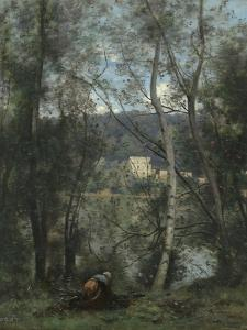 A Woman Gathering Faggots at Ville-d'Avray, c.1871-4 by Jean-Baptiste-Camille Corot