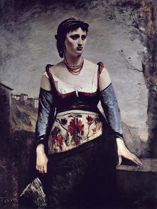 Agostina, 1866 by Jean-Baptiste-Camille Corot