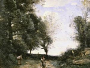 Along the Path by Jean-Baptiste-Camille Corot