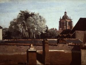 Bell Tower of Church of Saint Paterne at Orleans, 1840-1845 by Jean-Baptiste-Camille Corot