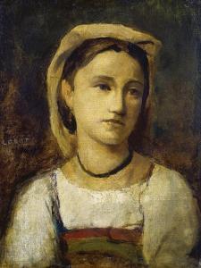 Bildnis Eines Italienischen Maedchens, um 1870 by Jean-Baptiste-Camille Corot
