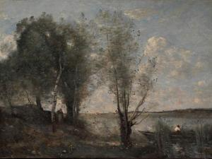 Boatman Among the Reeds, c.1865 by Jean-Baptiste-Camille Corot