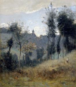 Canteleu près de Rouen by Jean-Baptiste-Camille Corot