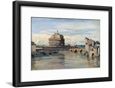 Castel Sant' Angelo and the River Tiber, Rome, C1816-1875
