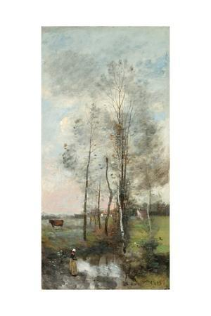 Copse of Alder and Birch, 1865-70