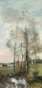 Copse of Alder and Birch, 1865-70 by Jean-Baptiste-Camille Corot