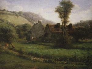 Cottage in a Landscape, Circa 1871 by Jean-Baptiste-Camille Corot