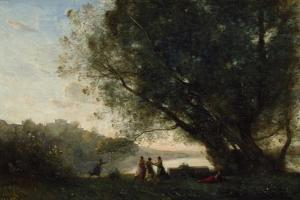 Dance under the Trees at the Edge of the Lake, 1865-70 by Jean-Baptiste-Camille Corot