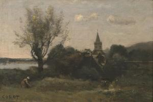 Ennery Near Auvers by Jean-Baptiste-Camille Corot