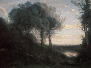 Evening, 1850-1860S by Jean-Baptiste-Camille Corot