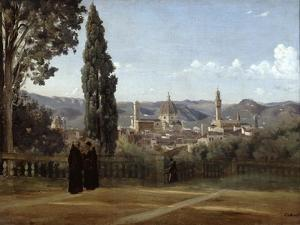 Florence, View from the Boboli Gardens, 1835-1840 by Jean-Baptiste-Camille Corot