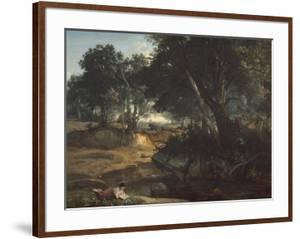 Forest of Fontainebleau, 1834 by Jean-Baptiste-Camille Corot