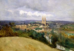 General View of the Town of Saint-Lo, circa 1833 by Jean-Baptiste-Camille Corot