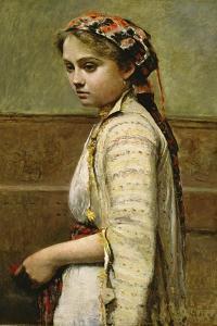 Greek Girl, Mlle. Dobigny, 1868-70 by Jean Baptiste Camille Corot