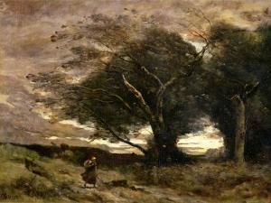 Gust of Wind, 1866 by Jean-Baptiste-Camille Corot